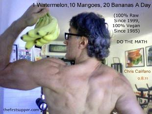 fruit builds muscle, raw bodybuilding, Chris Califano The Best Weigh, vegan performance, natural hygeine diet long island